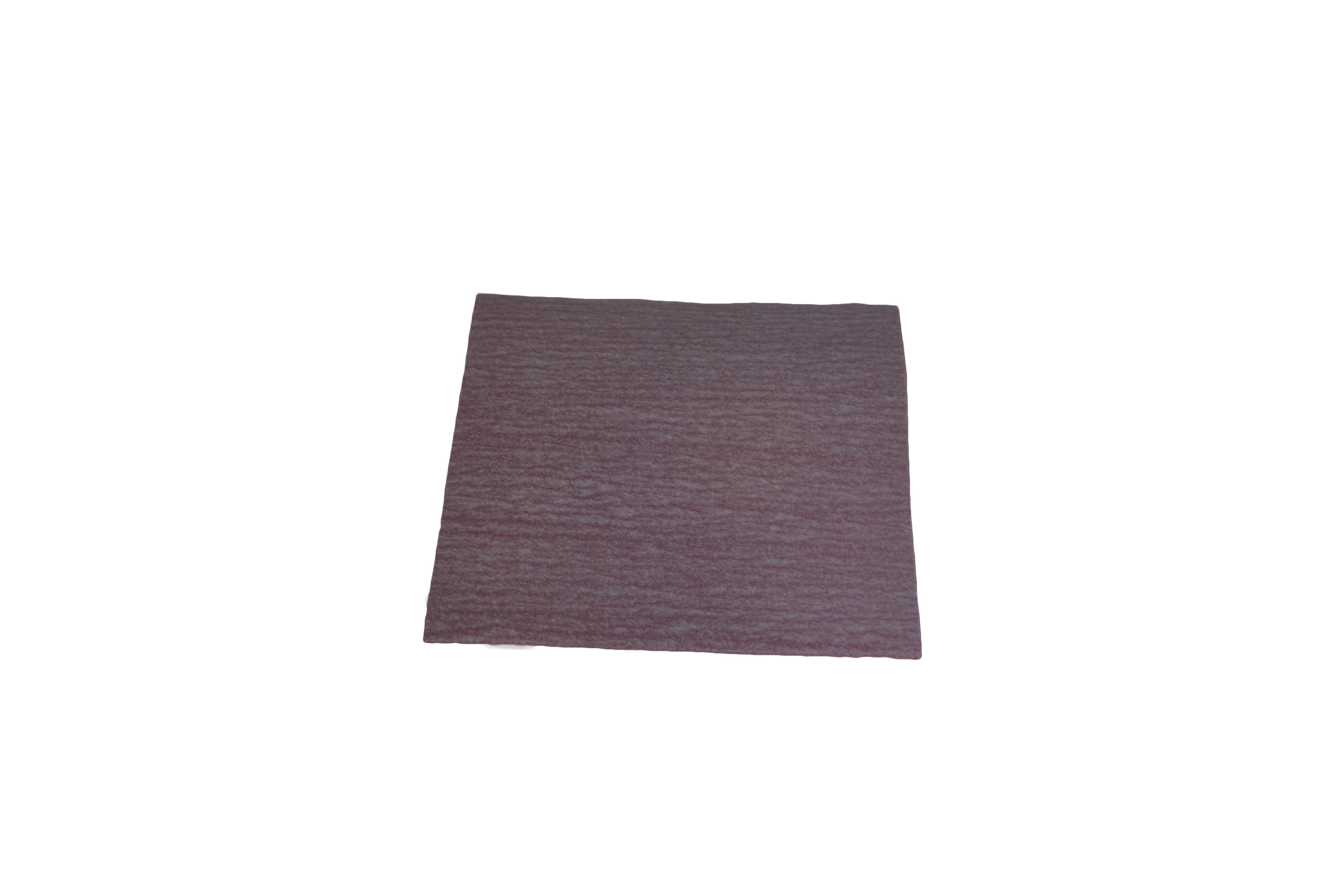 Foglietto carta abrasiva con velcro - mm. 100x120 - Grana 40 - Confezione 250Pz.